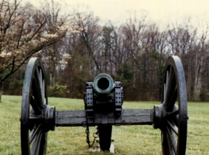 Bull Run, Virginia, Battlefield Cannon (© F. P. Dorchak, April 22, 1990)